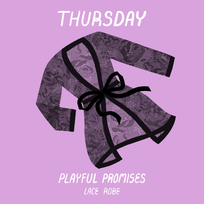 4 - Thursday - Playful Promises Lace Robe
